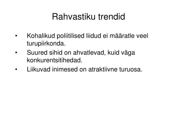 Rahvastiku trendid