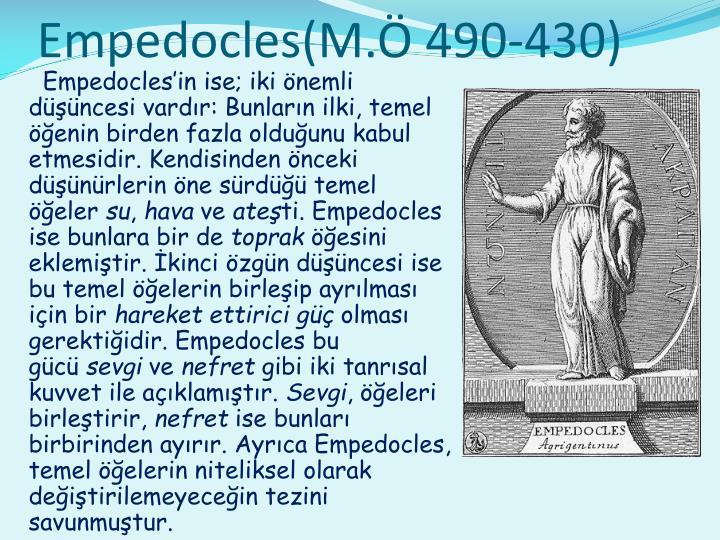 Empedocles(M.Ö 490-430)
