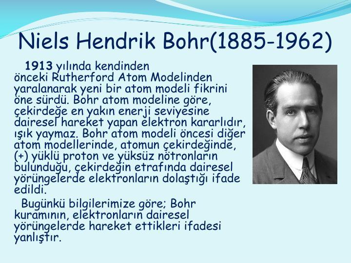 Niels Hendrik Bohr(1885-1962)