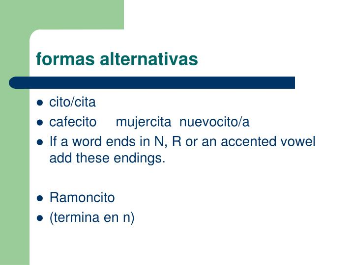 formas alternativas