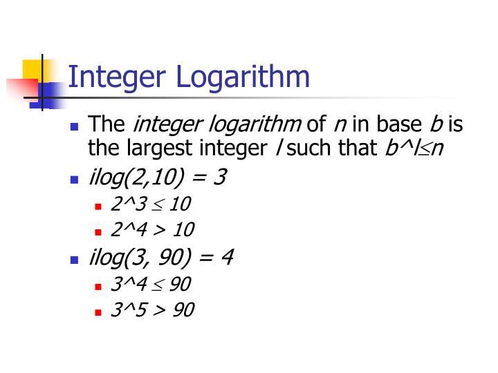 Integer Logarithm