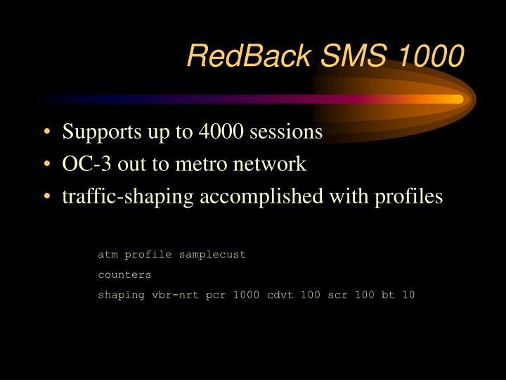 RedBack SMS 1000