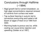 conclusions through halftime 19941