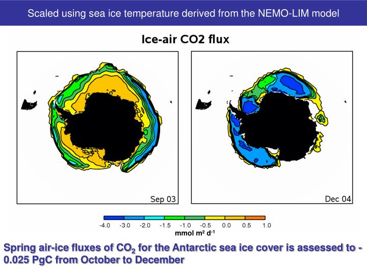 Scaled using sea ice temperature derived from