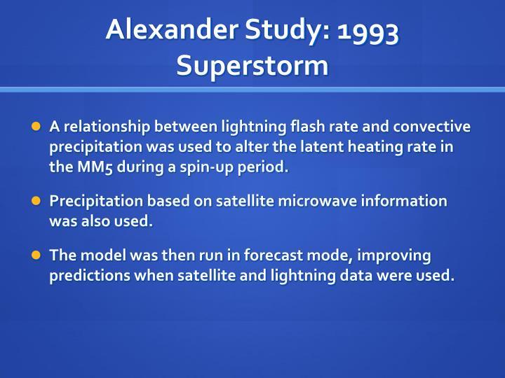 Alexander Study: 1993 Superstorm