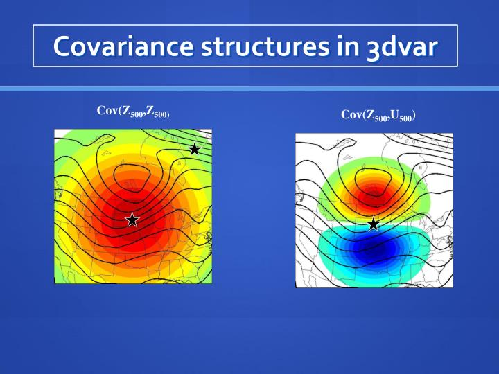 Covariance structures in 3dvar
