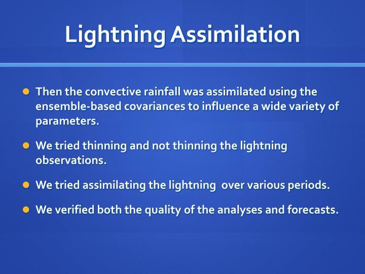 Lightning Assimilation