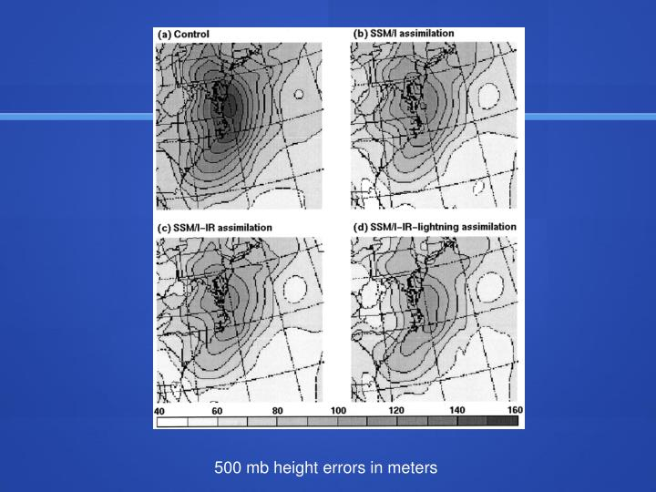 500 mb height errors in meters