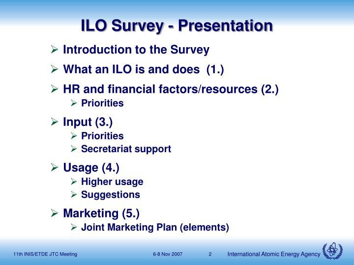 ILO Survey - Presentation