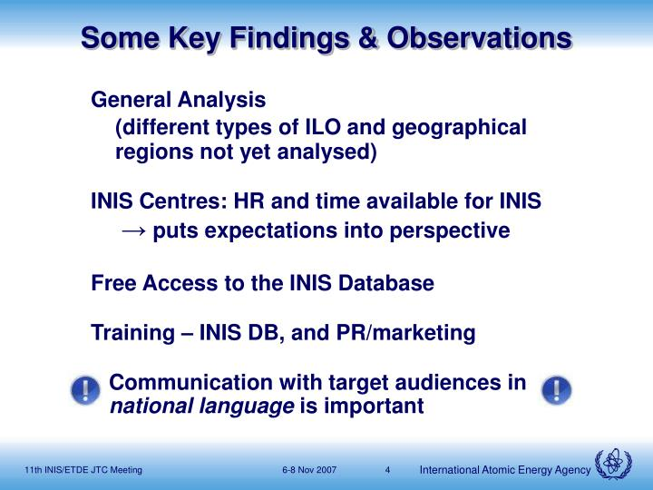 Some Key Findings & Observations