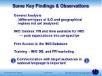 some key findings observations