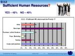 sufficient human resources