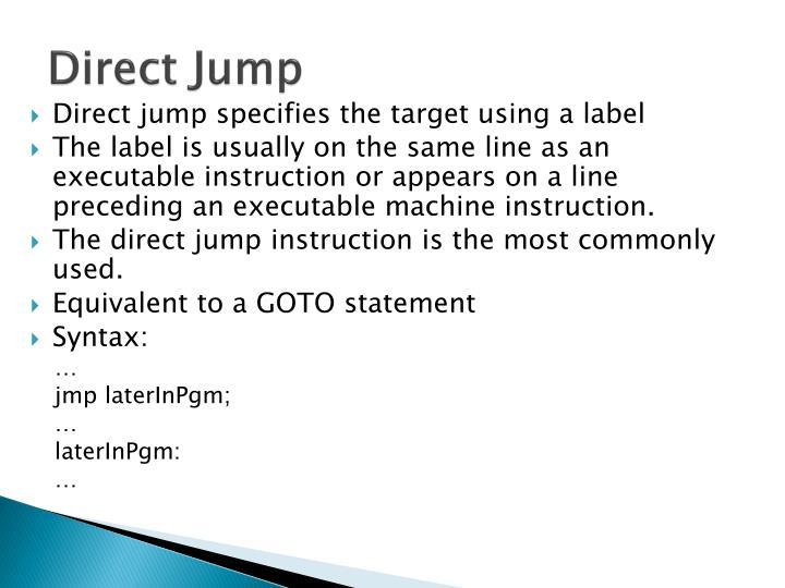 Direct Jump