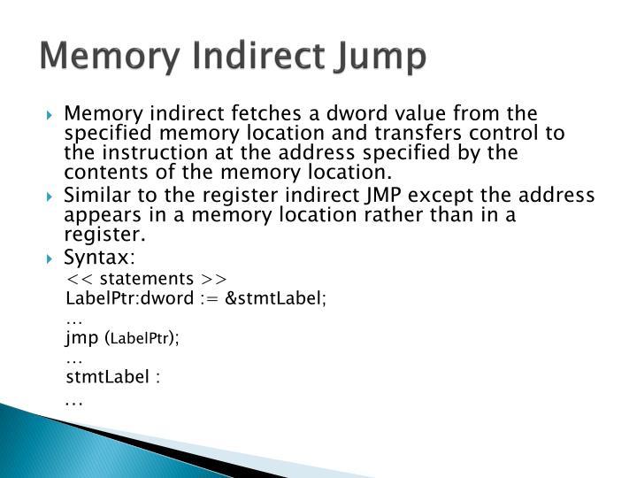 Memory Indirect Jump