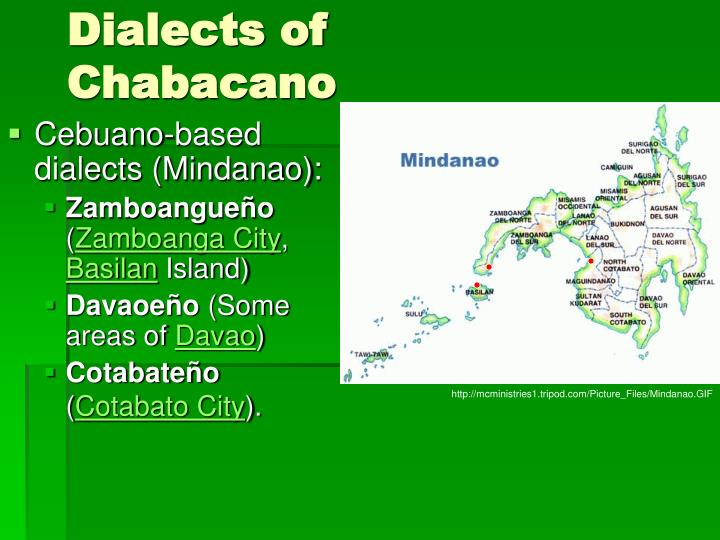 Dialects of Chabacano
