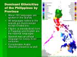 dominant ethnicities of the philippines by province