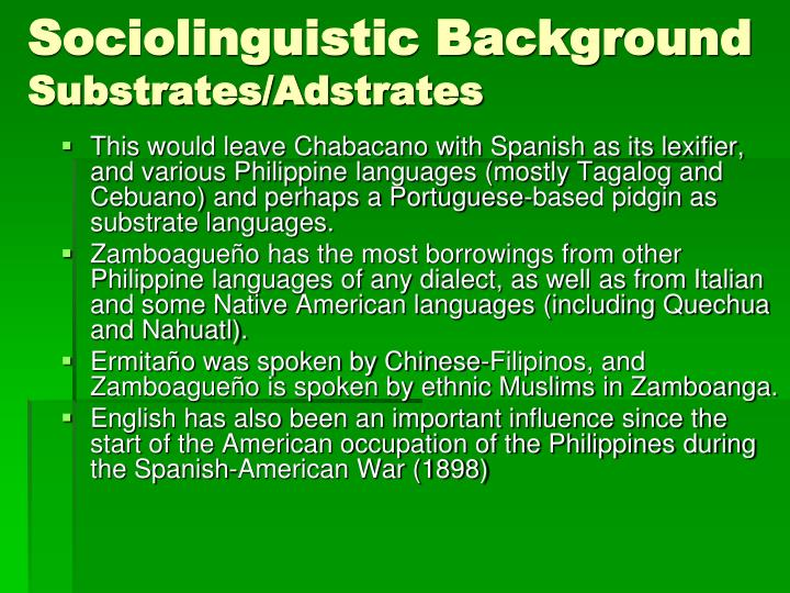 Sociolinguistic Background