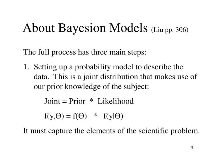About Bayesion Models