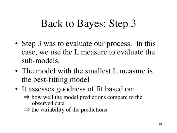 Back to Bayes: Step 3