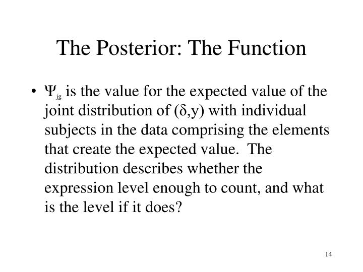 The Posterior: The Function
