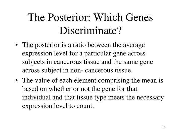 The Posterior: Which Genes Discriminate?