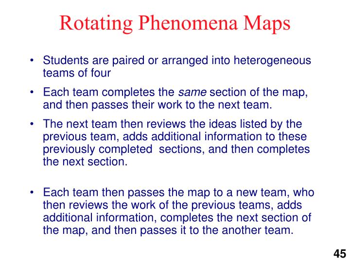 Rotating phenomena maps1