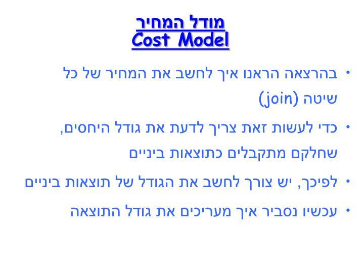 מודל המחיר