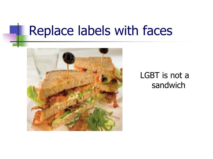 LGBT is not a sandwich