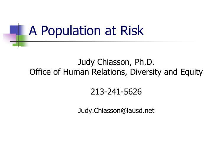 Judy Chiasson, Ph.D.