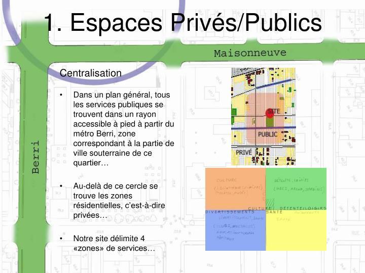1. Espaces Privés/Publics