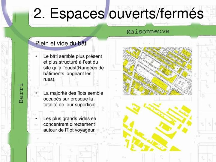 2. Espaces ouverts/fermés