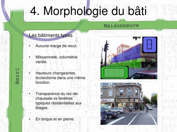 4. Morphologie du bâti