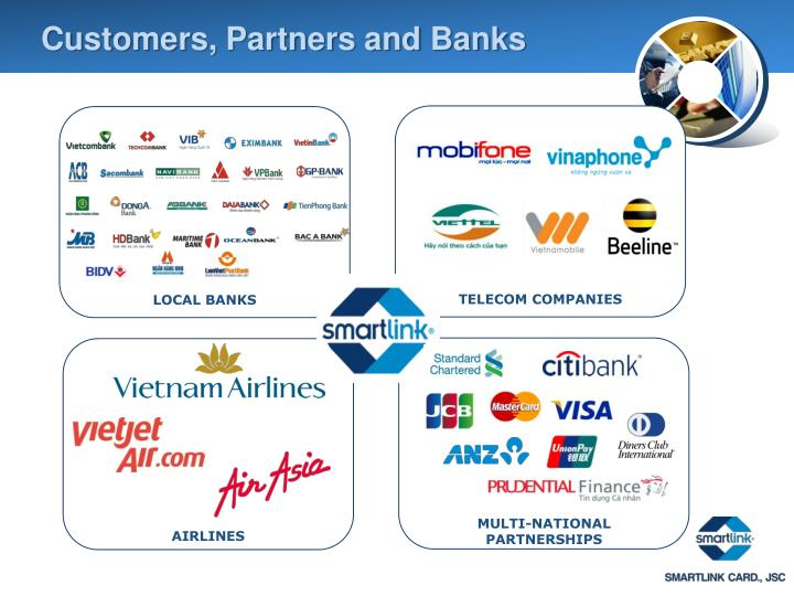 Customers, Partners and Banks