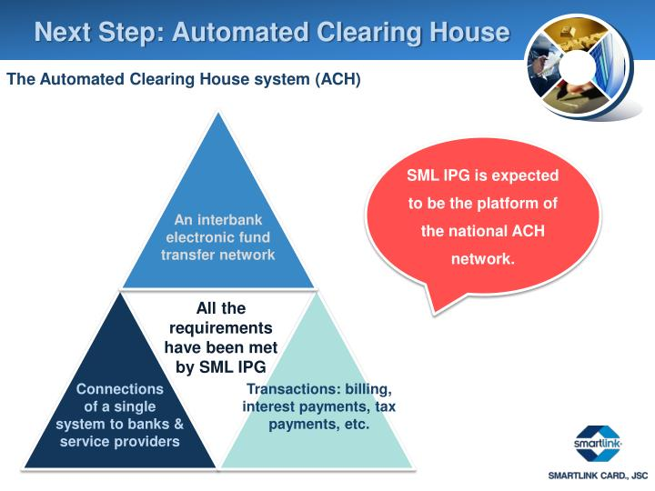 Next Step: Automated Clearing House