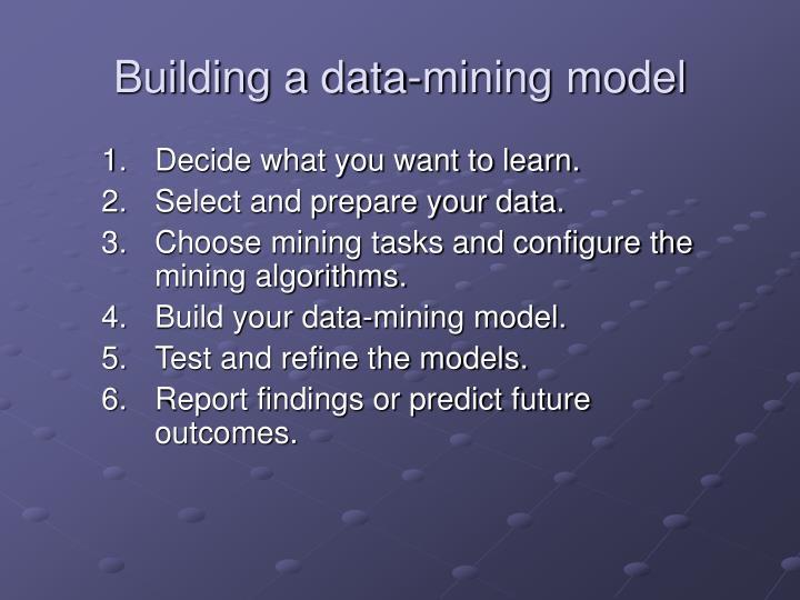 Building a data-mining model