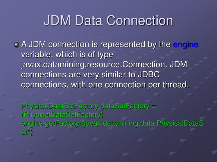 JDM Data Connection