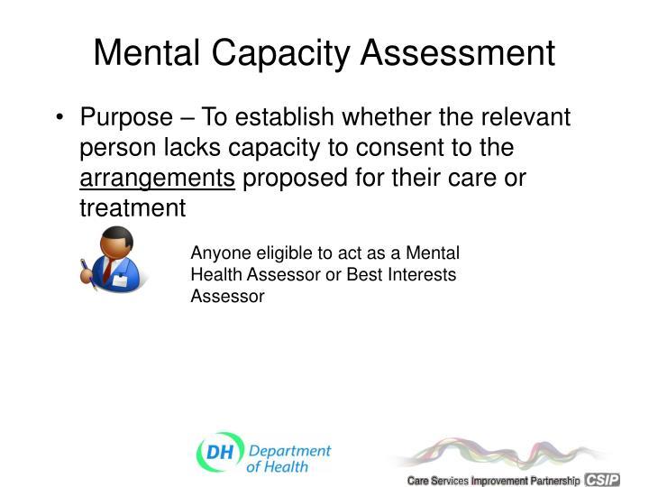 Mental Capacity Assessment