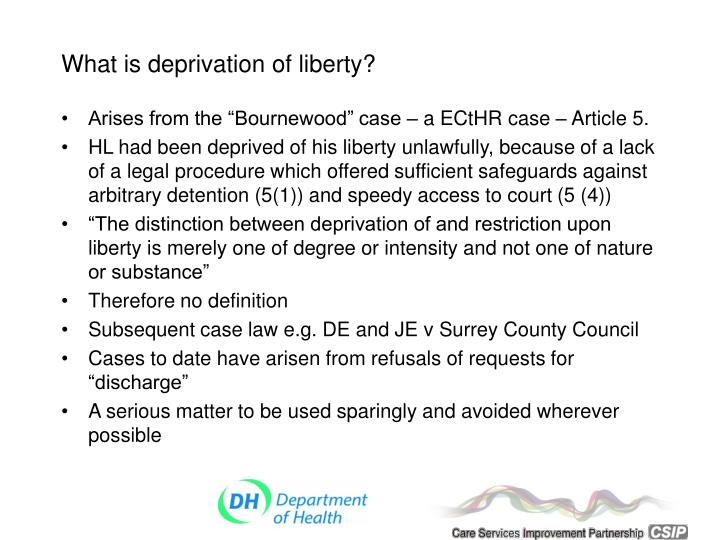 What is deprivation of liberty?