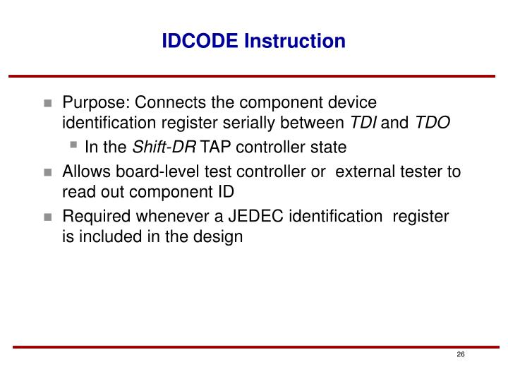 IDCODE Instruction