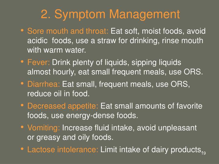 2. Symptom Management