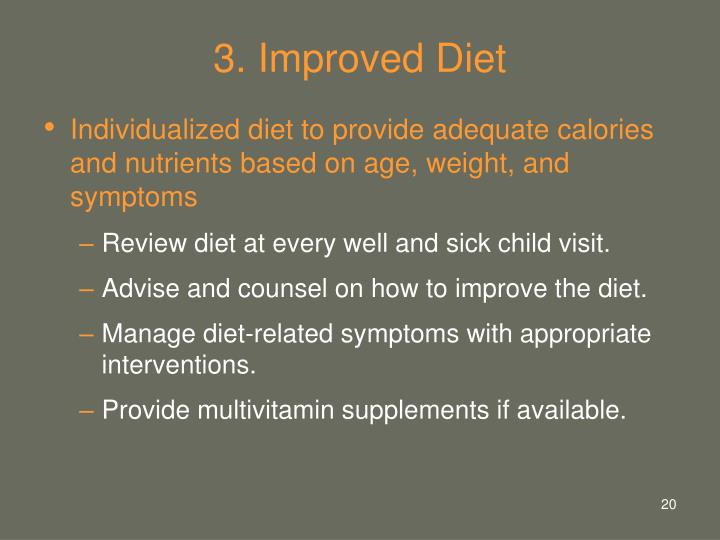 3. Improved Diet