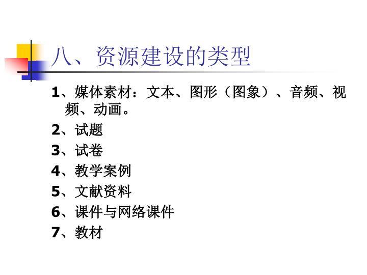八、资源建设的类型