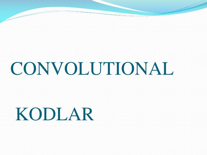 CONVOLUTIONAL