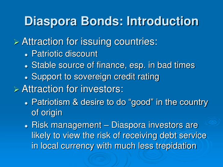 Diaspora Bonds: Introduction