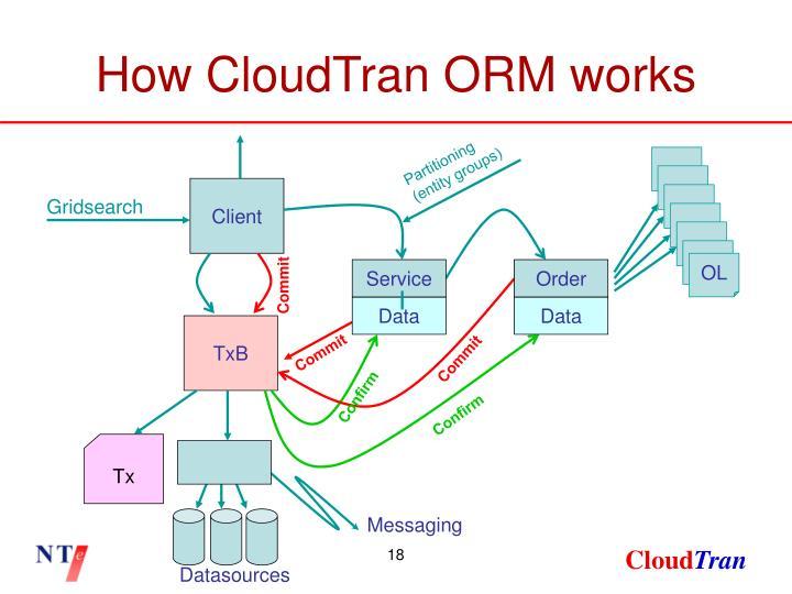 How CloudTran ORM works