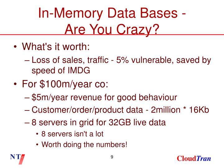 In-Memory Data Bases -
