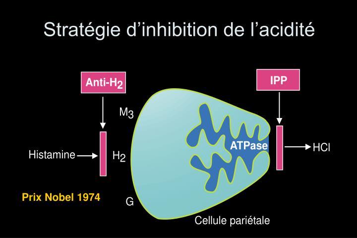 Stratégie d'inhibition de l'acidité