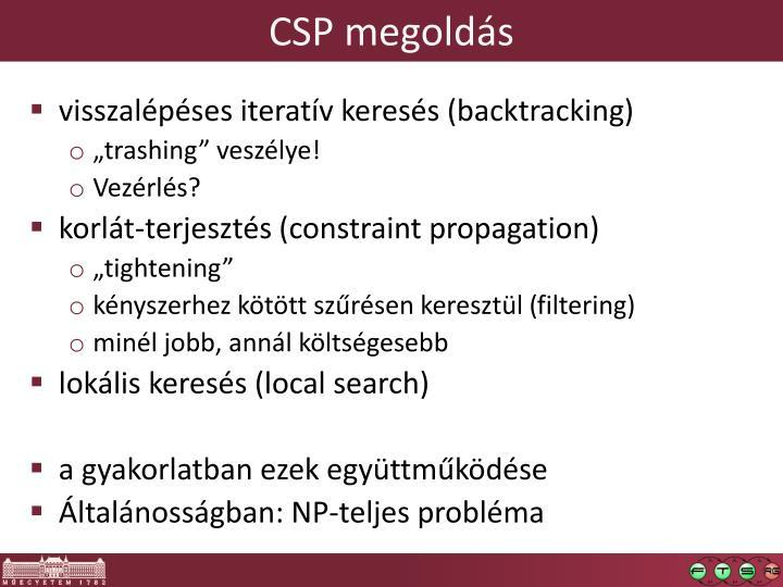 CSP megoldás
