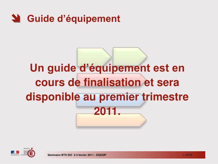 Guide d'équipement