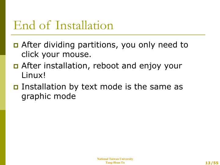 After dividing partitions, you only need to click your mouse.